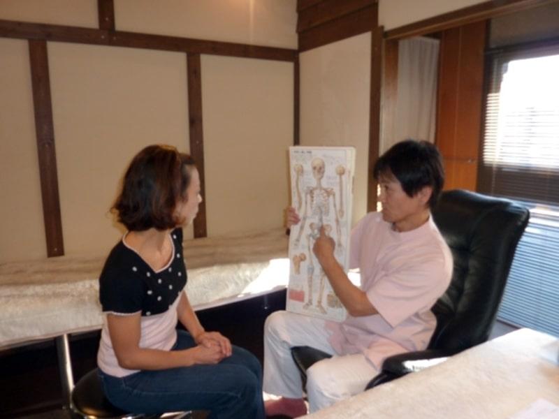 お客様が腰痛やヘルニアなどの説明を理解して一緒に治療を進めていくことを大事にしています
