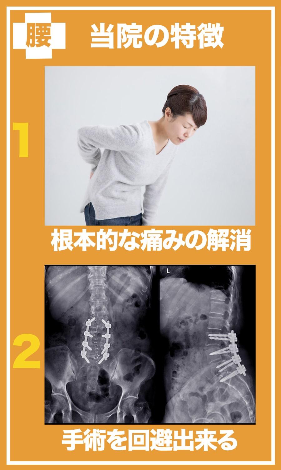 当院の施術の特徴は1根本的な原因を解消すること、2手術を回避できることです。